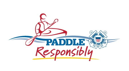 Paddle Responsibly Logo - Line Drawing of paddler with PFD